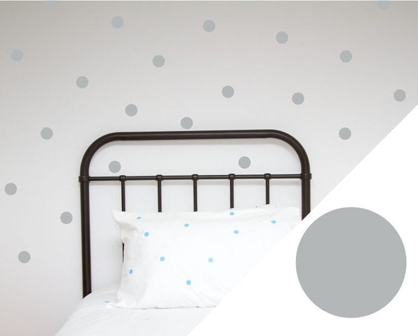 100PercentHeart | Wall Stickers Dots Large Silver | Shut the Front Door
