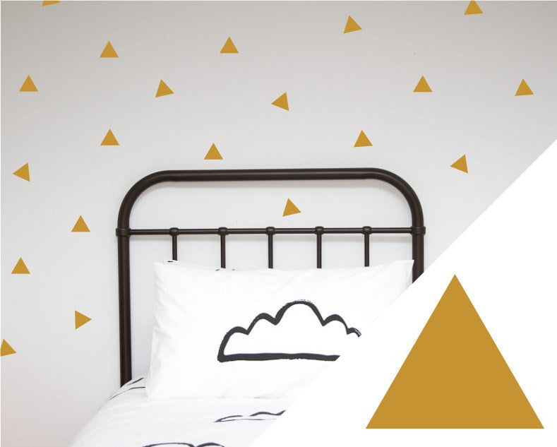 100PercentHeart | Wall Stickers Large Triangles Gold | Shut the Front Door