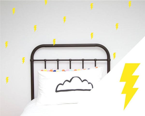 100PercentHeart | Wall Sticker Lightning Large yellow | Shut the Front Door
