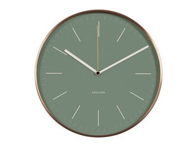 Karlsson | Wall Clock Minimal Green | Shut the Front Door