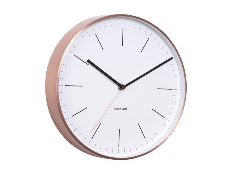 Karlsson | Wall Clock Minimal White | Shut the Front Door
