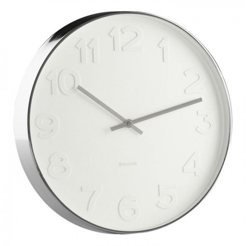 Karlsson | Wall Clock Mr White numbers S | Shut the Front Door