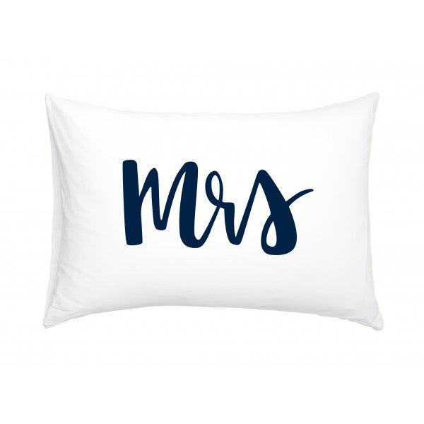 White Fox & Co | Mrs Pillowcase Navy | Shut the Front Door