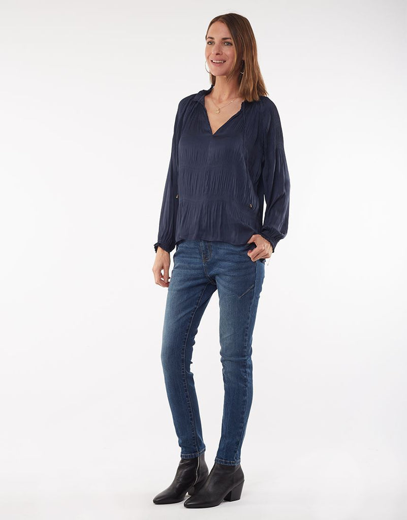 Foxwood | Twilight Top - Navy | Shut the Front Door