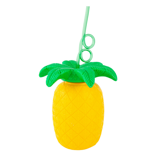 Sunnylife | Pineapple Sipper with Curly Straw | Shut the Front Door