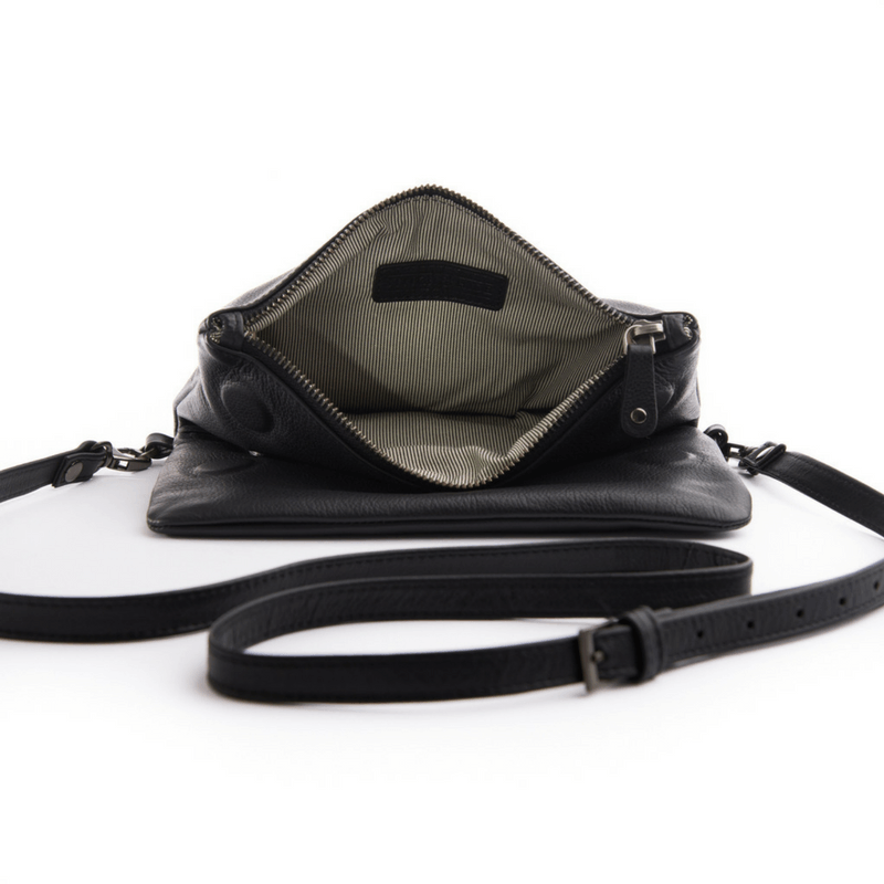 Stitch & Hide | Piper Clutch Bag BLACK | Shut the Front Door