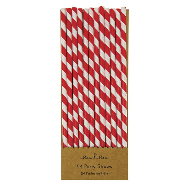 Meri Meri | Red Paper Straws Pk 24 | Shut the Front Door