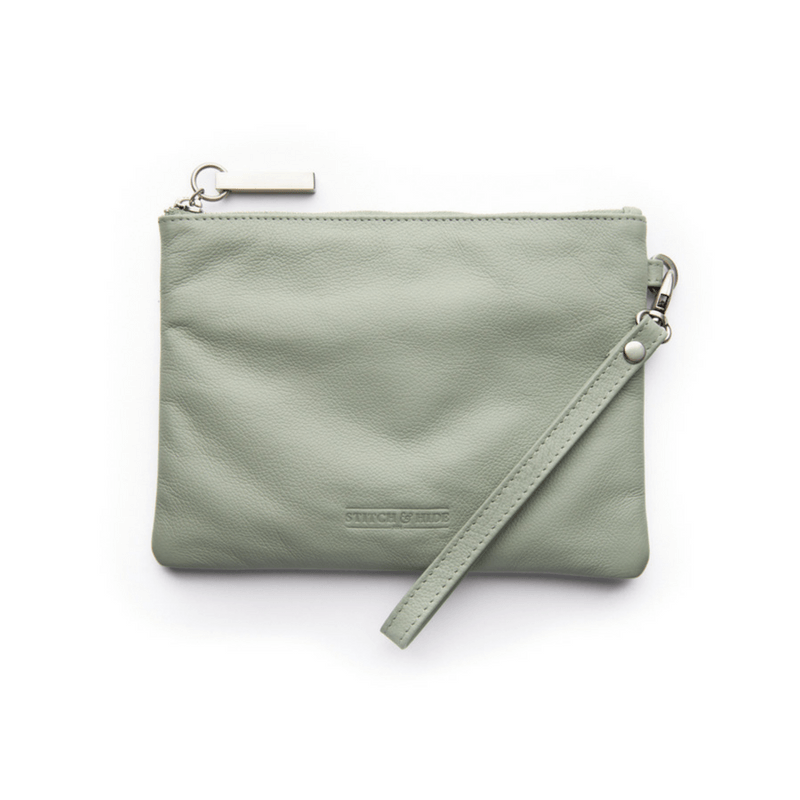 Stitch & Hide | Cassie Clutch - SAGE | Shut the Front Door
