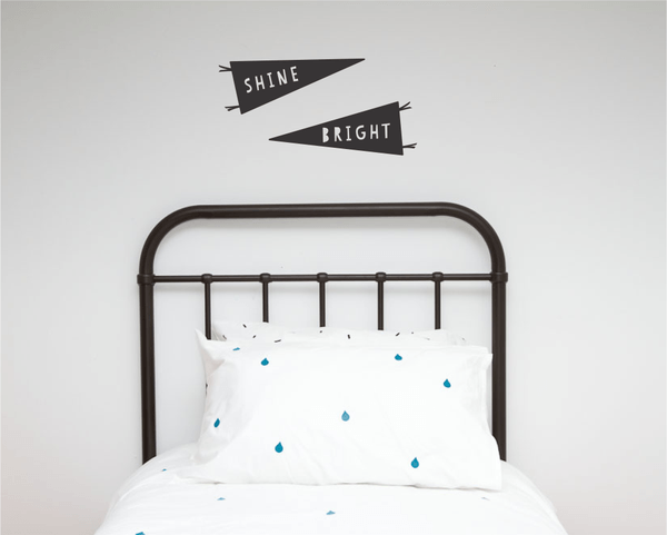 100PercentHeart | Wall Sticker Shine Bright A3 White | Shut the Front Door