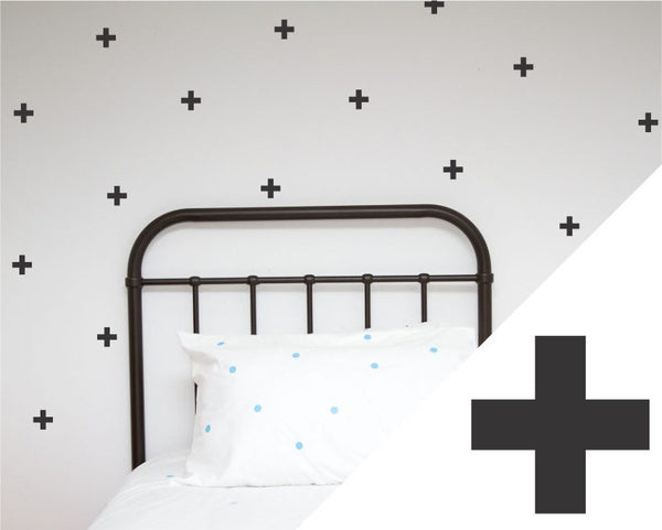 100PercentHeart | Wall Sticker Crosses Small Black | Shut the Front Door