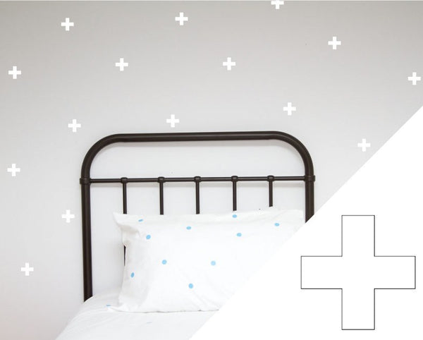 100PercentHeart | Wall Stickers Crosses Small White | Shut the Front Door