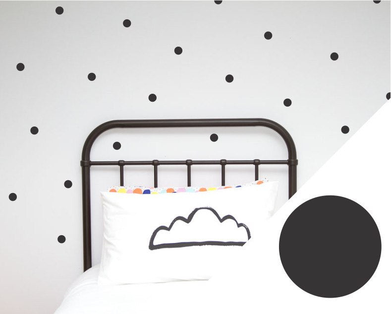 100PercentHeart | Wall Stickers Small Dots Black | Shut the Front Door