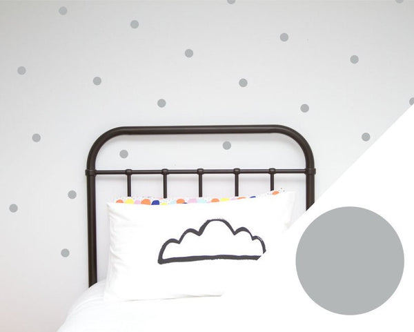 100PercentHeart | Wall Stickers Small Dots Silver | Shut the Front Door