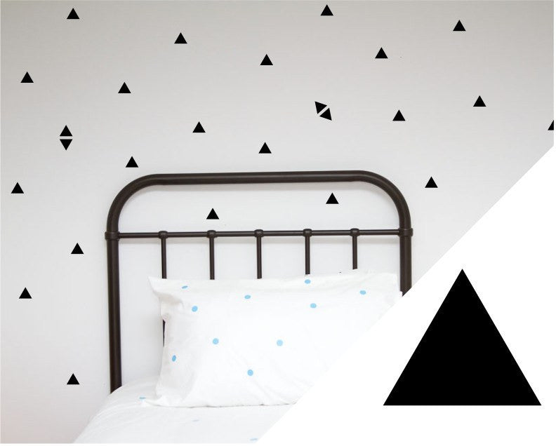 100PercentHeart | Wall Stickers Small Triangles Black | Shut the Front Door