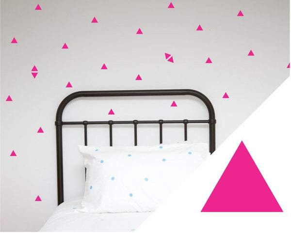 100PercentHeart | Wall Stickers Small Triangles Hot Pink | Shut the Front Door