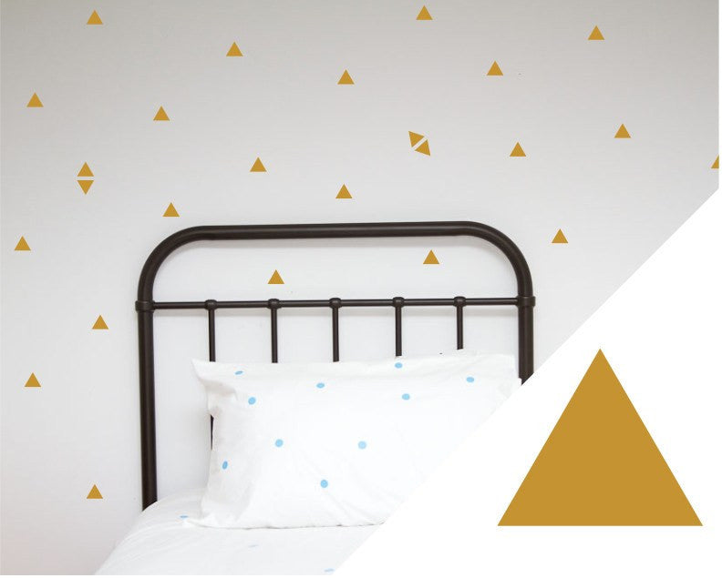 100PercentHeart | Wall Stickers Small Triangles Gold | Shut the Front Door