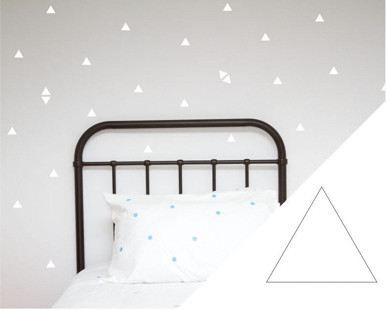 100PercentHeart | Wall Stickers Triangles Small White | Shut the Front Door