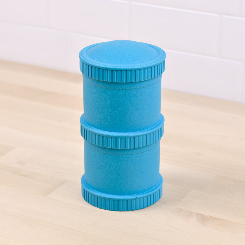 Re-Play | Sky Blue Snack Stack Containers | Shut the Front Door