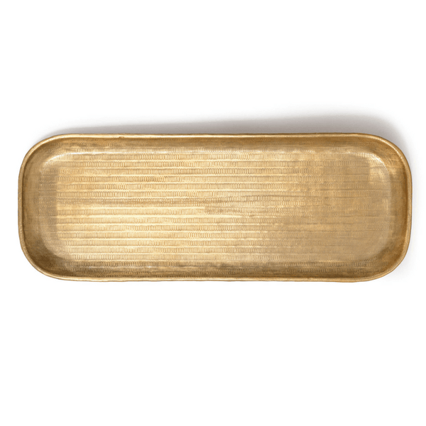 Parnell | Brass Oblong Tray / Platter | Shut the Front Door