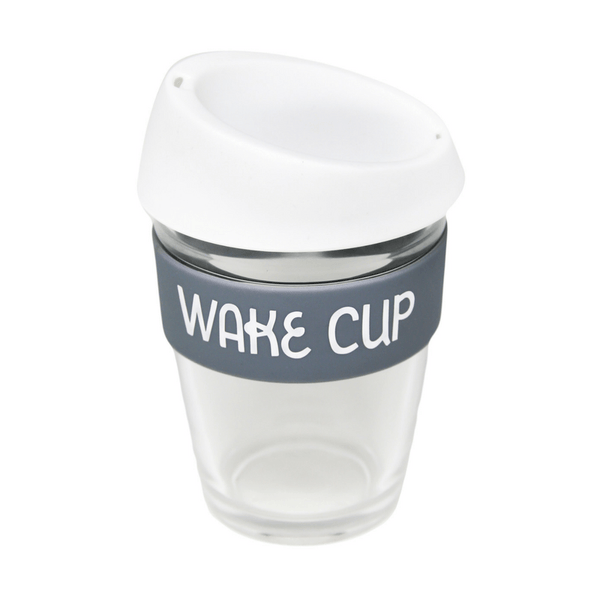 General Eclectic | Reusable Glass Coffee Cup - Wake Cup | Shut the Front Door
