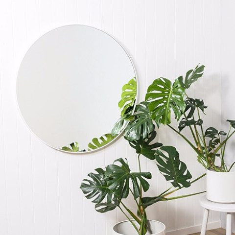 Middle of Nowhere | Flynn Round Mirror 80cm White *PREORDER* | Shut the Front Door