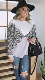 Can't Miss Cat Print Top