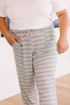 Ave Shops Bottoms Cozy In Stripes Bottoms
