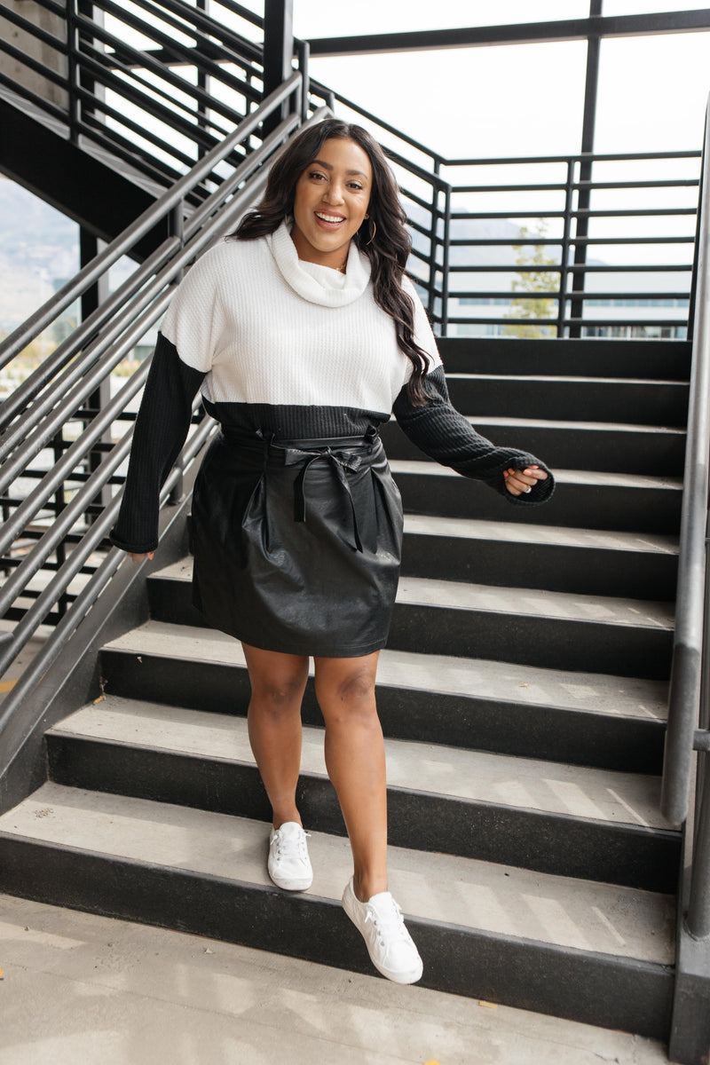 Ave Shops bottoms Faux But Fabulous Leather Skirt In Black