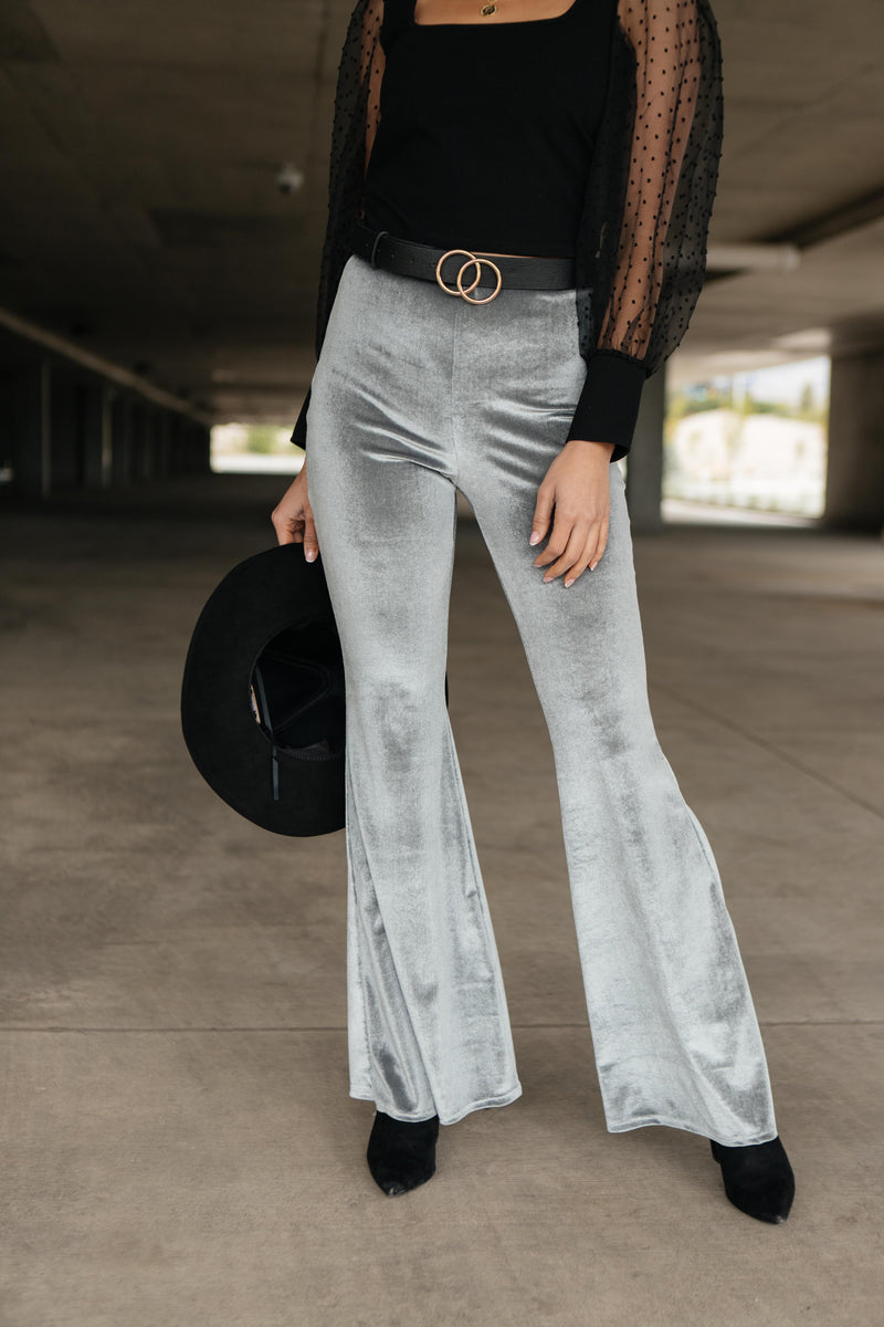 Ave Shops Bottoms Get Your Groove On Velvet Bell Bottoms
