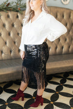 Ave Shops Bottoms Sierra Sequin Skirt