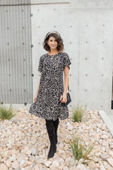 Ave Shops Dresses Fall Fancy Tiered Dress In Midnight