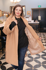 Ave Shops Outerwear Deconstructed Oversized Trench Coat in Light Tan
