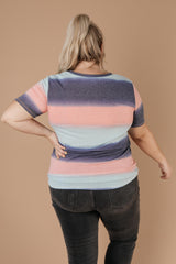 Blurred Stripes V-Neck