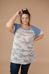 Ave Shops Tops Camouflage Blues Top