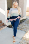 Ave Shops Tops Deliah Distressed Sweater