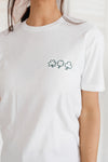 Ave Shops Tops Embroidered Three Shamrock Tee