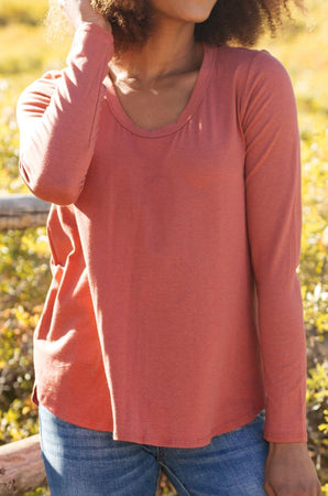 Ave Shops Tops Every Girl's Favorite Basic Top in Brick