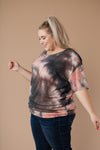 Ave Shops Tops Forgotten Dreams Tie Dye Top In Mauve