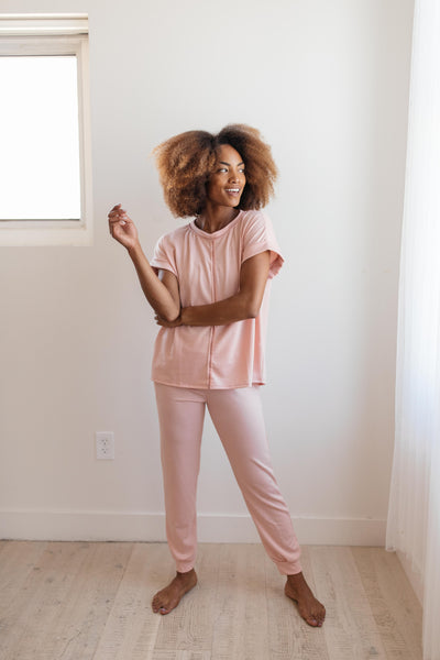 Ave Shops Tops Luxurious Loungewear Top In Blush
