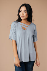 Ave Shops tops Parallel Universe Top In Gray