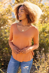 Ave Shops Tops Small The Wendi Top in Harvest Orange