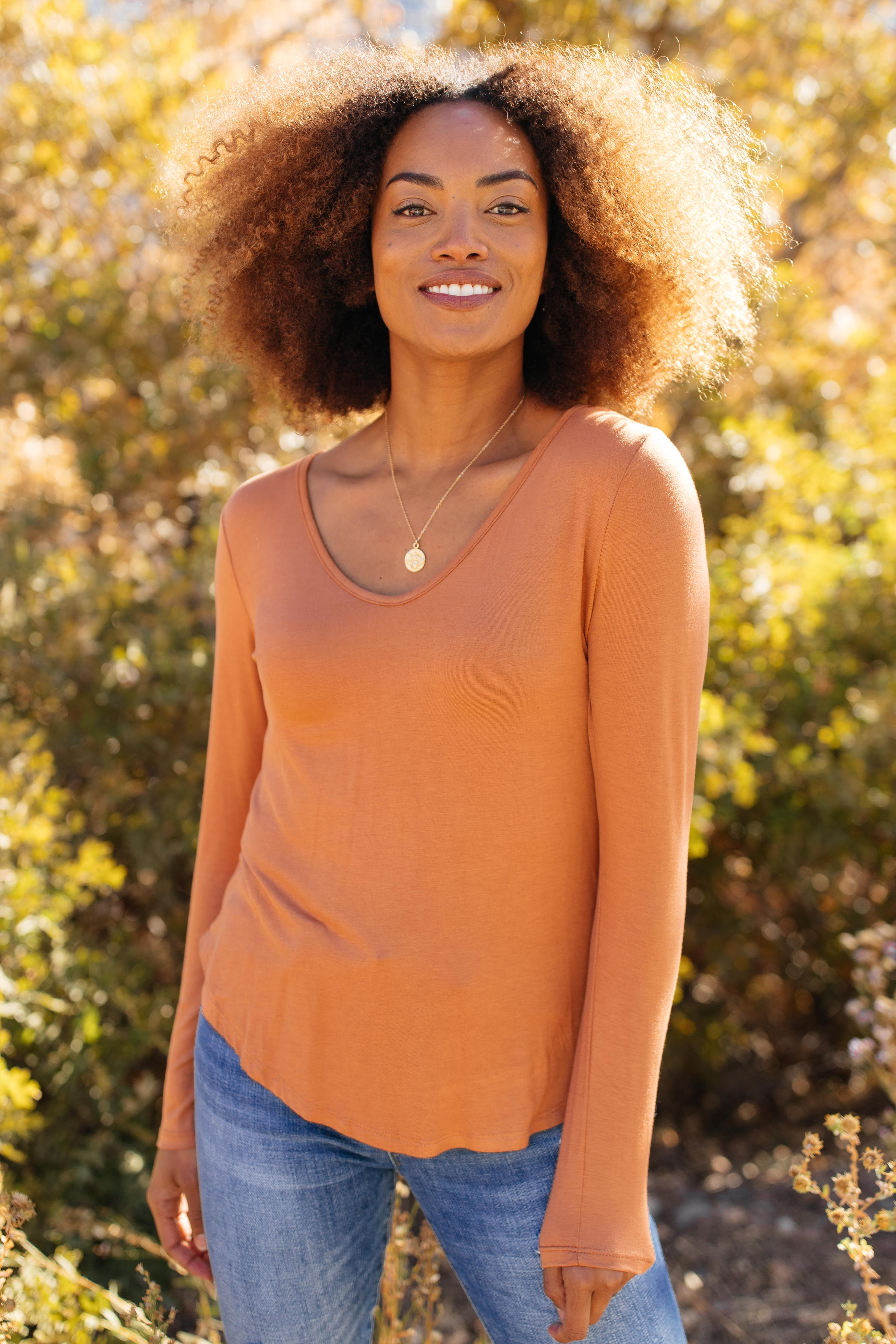 Ave Shops Tops The Wendi Top in Harvest Orange