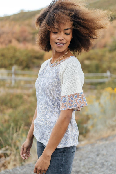 Ave Shops Tops When Pattern Meets Knit Top