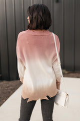 Ave Shops Womens Color Melt Sweater in Mauve