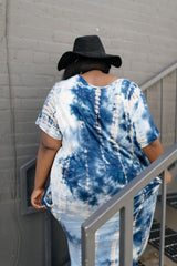 Ave Shops Womens Miami Beach Tie Dye Maxi Dress In Navy