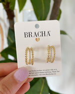 Bracha Jewelry Bracha - Joy Mid Hoops