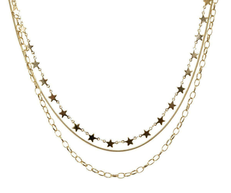 Bracha Jewelry Cosmos Star Layered Necklace