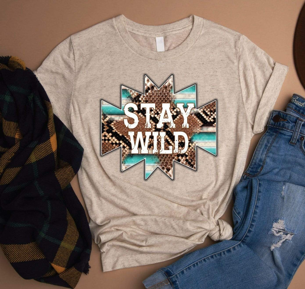 Exclusive Thredz Tops Stay Wild Graphic Tee