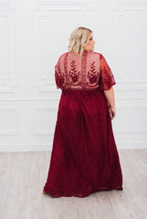 Elegant Lace Dress: Wine