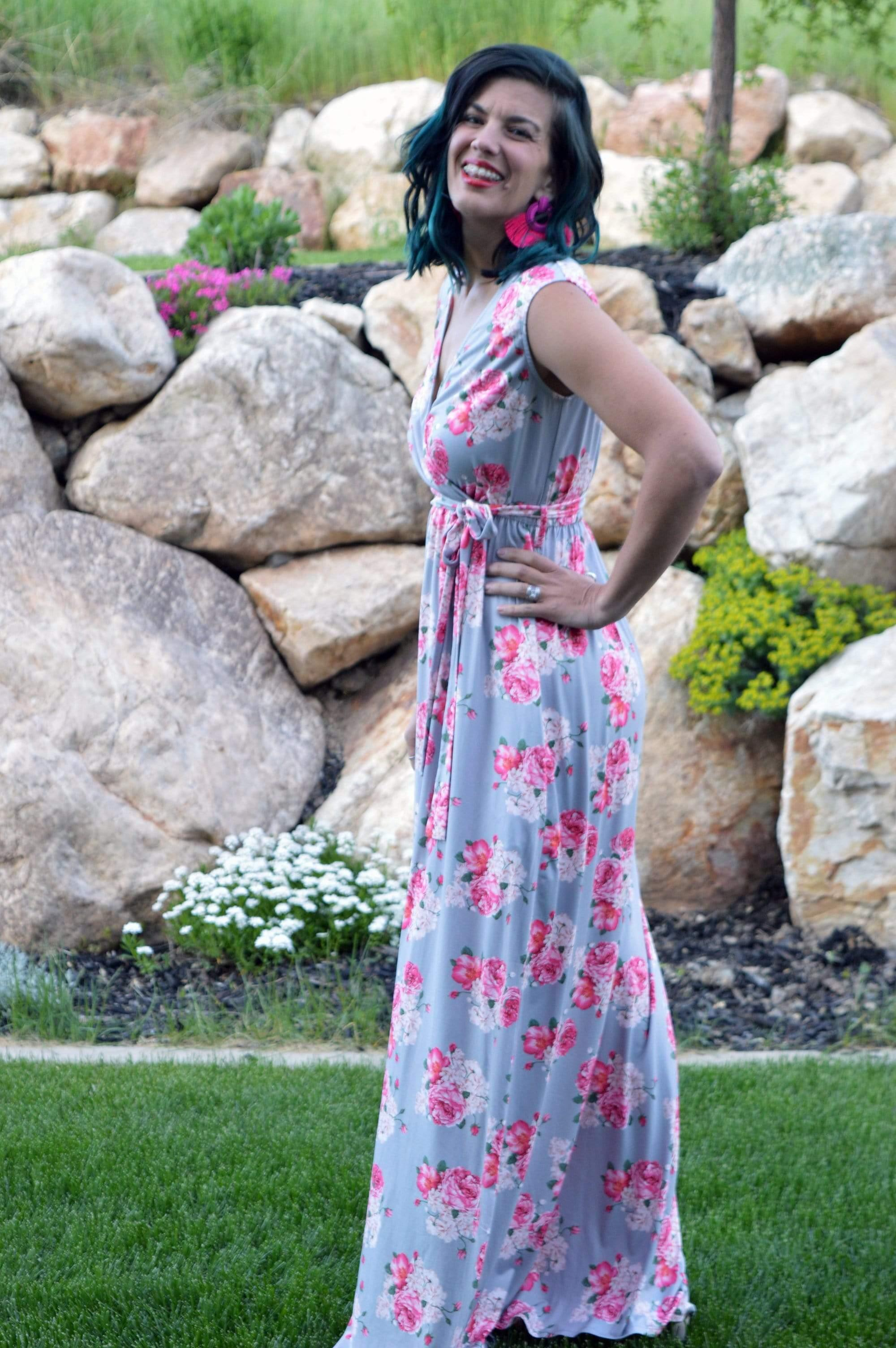Gezelle Floral Maxi - FINAL SALE - Tara Lynn's Boutique